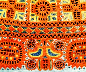 Embroidery at a woman folk costume, Detva, first half of the 20th century