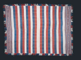 Weaved tablecloth, 1861
