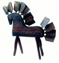 Milan Lichard: The horse made of splitted wood, 1985