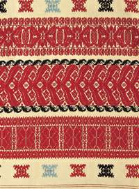 The woven bed cover, eastern Slovakia 1930