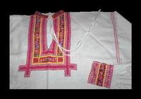 Embroidered decorations of the man shirts from 1920 and 2003