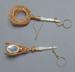 Holders for the wedding flowers, 19th century