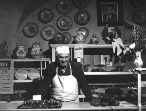 Štefan Cyril Parrák as a baker and confectioner in his shop