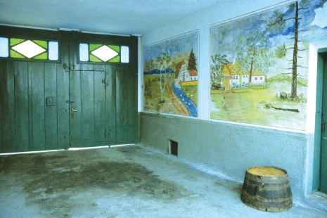 Wall paintings in the village Láb, 1970s