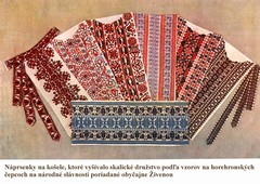 Embroidered products of embroidery-making cooperative in Skalica