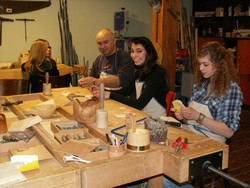 Workshop for secondary schools at the School of Crafts in ÚĽUV Banská Bystrica