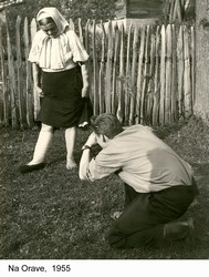 01 Pavel Janek making photo of folk costume, 1955